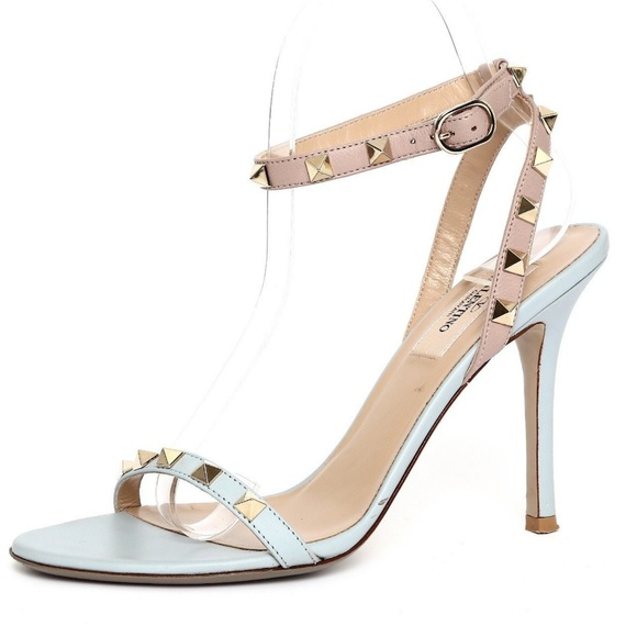 Valentino Shoes - Valentino Studded Babyblue Ankle Strap Sandal 7